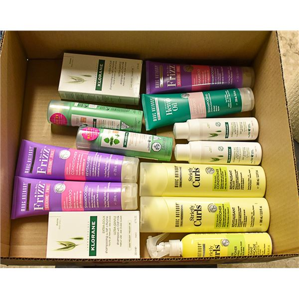 FLAT LOT OF BRAND NAME HAIR CARE PRODUCTS