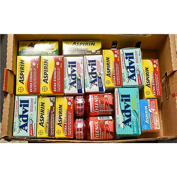 FLAT LOT OF BRAND NAME PAIN RELIEF MEDICINE