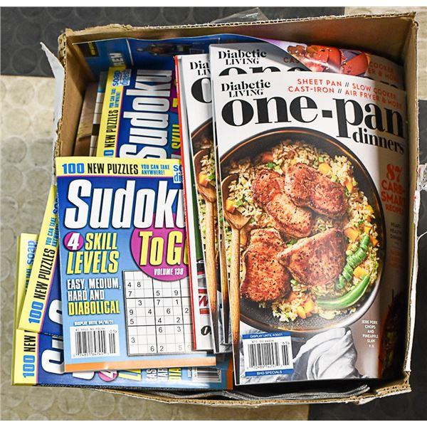 BOX LOT OF DRUGSTORE CLOSURE MAGAZINES