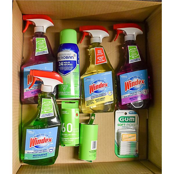 FLAT LOT OF CLEANING SUPPLIES