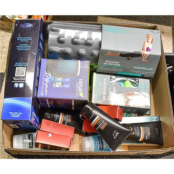 FLAT LOT OF BRAND NAME SELF CARE PRODUCTS
