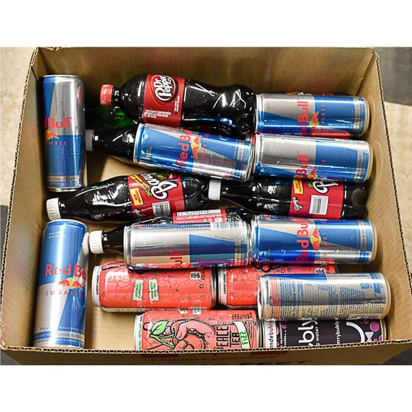 FLAT LOT OF BRAND NAME SOFT DRINKS