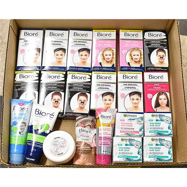 FLAT LOT OF BRAND NAME SKIN CARE PRODUCTS