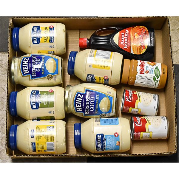 FLAT LOT OF BRAND NAME FOOD PRODUCTS