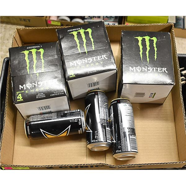 FLAT LOT OF BRAND NAME ENERGY DRINKS