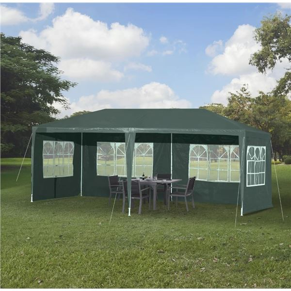 NEW GREEN 10FT X 20FT WEDDING PARTY EVENT TENT