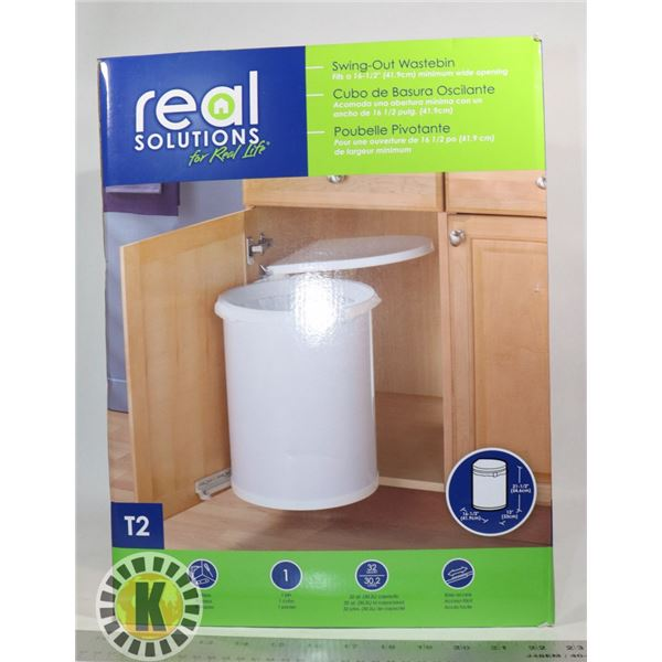NEW REAL SOLUTIONS SWING-OUT WASTE BIN