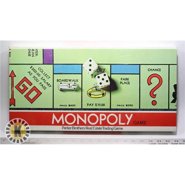 1961 MONOPOLY GAME ENGLISH EDITION