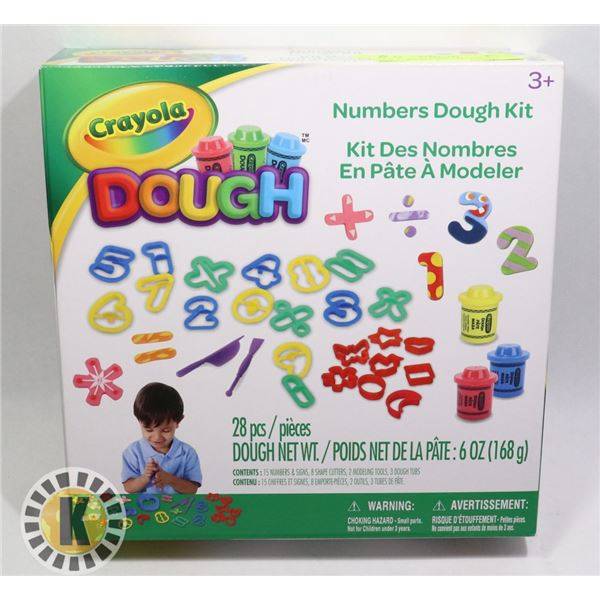 NEW CRAYOLA 28PC DOUGH KIT FOR AGES 3+