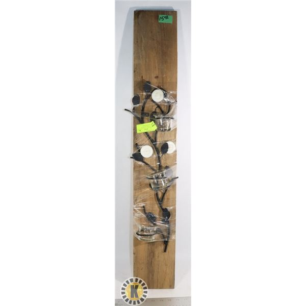 """5.5"""" BY 35"""" WALL ART WITH CANDLES AND HOLDERS"""