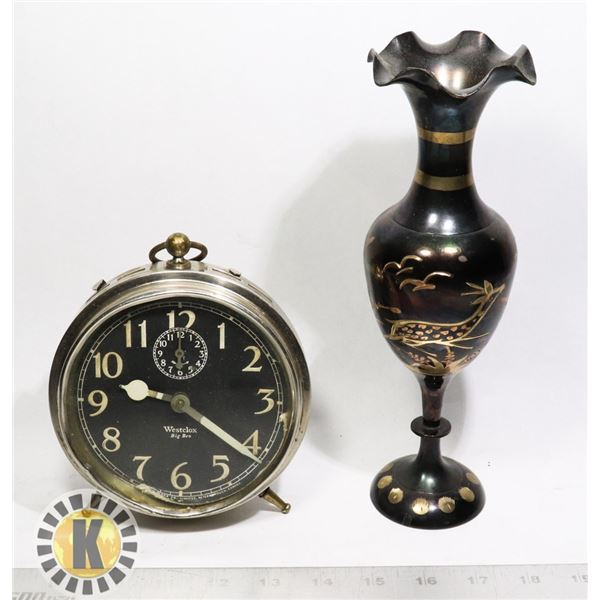 HOME DECOR- CLOCK AND VASE