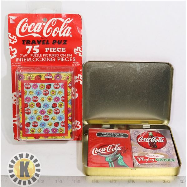 COCA COLA TRAVEL PUZ (75PC) SOLD WITH