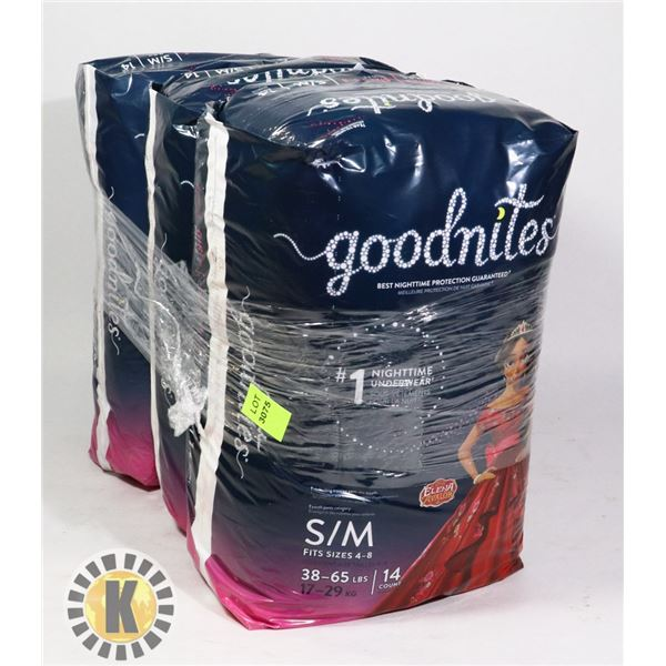 3 BAGS OF GOODNITES DIAPERS SIZE SM/MED