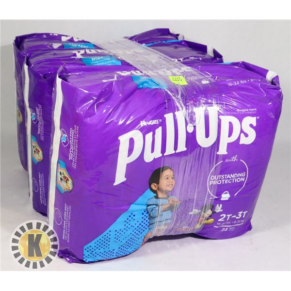 3 BAGS OF HUGGIES PULL UPS BOYS SIZE 2T-3T