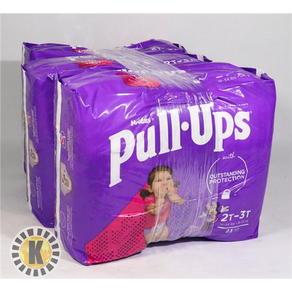 3 BAGS OF HUGGIES PULL UPS GIRLS SIZE 2T-3T
