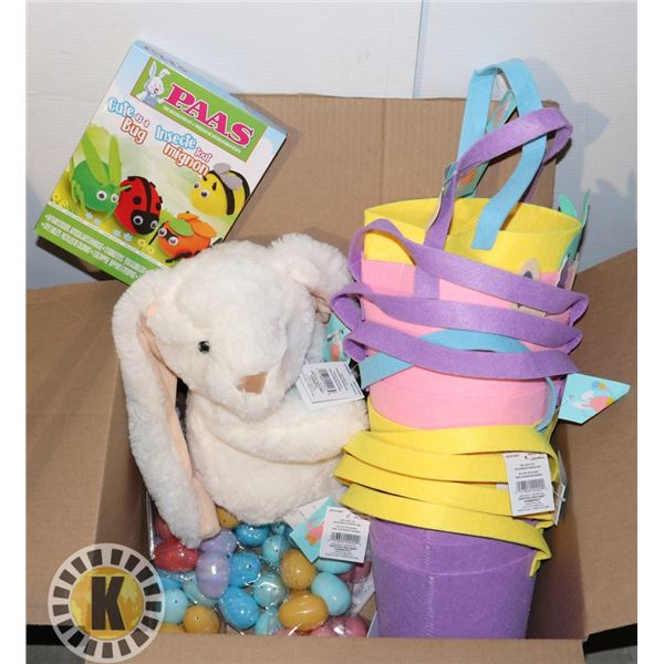 BOX OF ASSORTED EASTER ITEMS