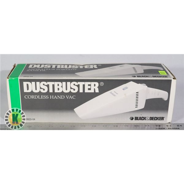DUST BUSTER CORDLESS HAND VACUUM