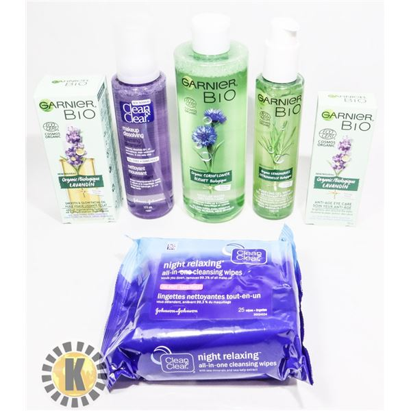 BAG OF FACIAL PRODUCTS