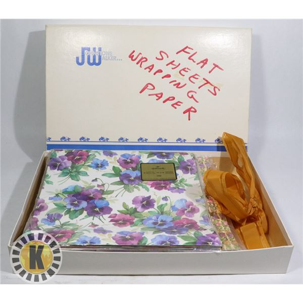 BOX OF FLAT SHEETS WRAPPING PAPER