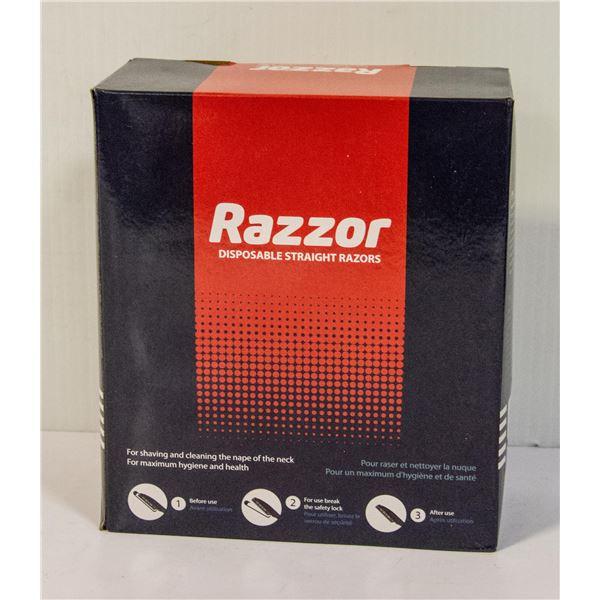 BOX OF 100 DETAILING RAZORS