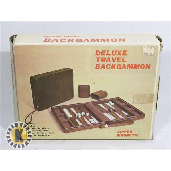 DELUXE TRAVEL BACKGAMMON