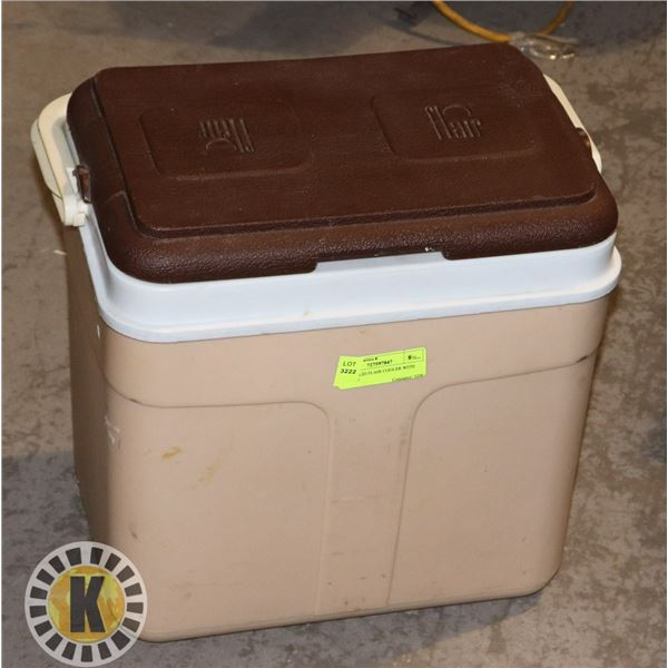BROWN LID FLAIR COOLER WITH HANDLE