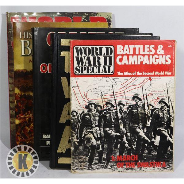 BUNDLE OF WORLD WAR II HARDCOVER BOOKS