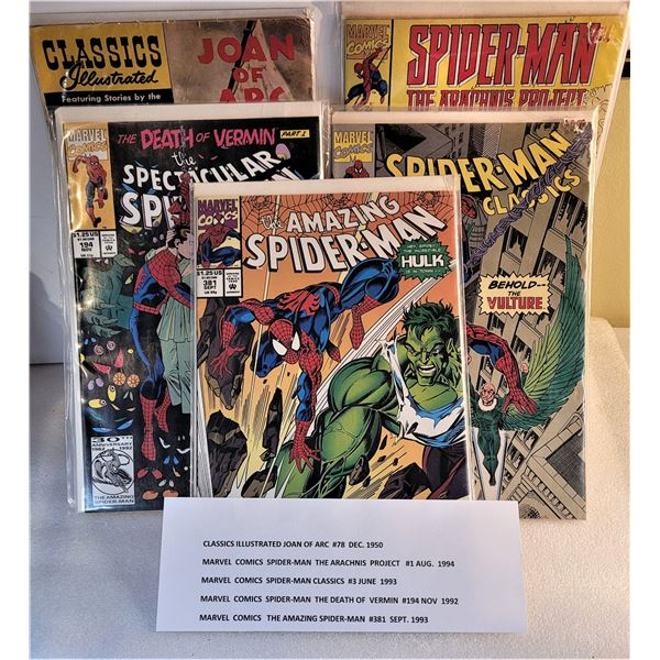 14)  LOT OF 5 VINTAGE COMIC BOOKS,  SEE PICTURE FO
