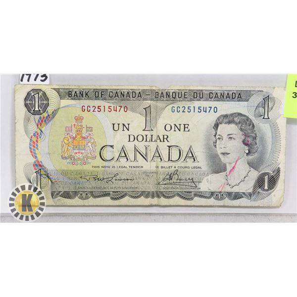 1973 CANADIAN ONE DOLLAR BANK NOTE