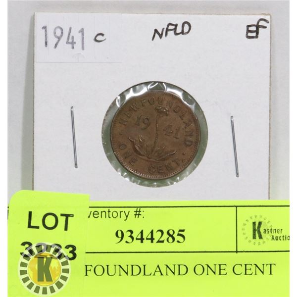 1941 NEWFOUNDLAND ONE CENT COIN