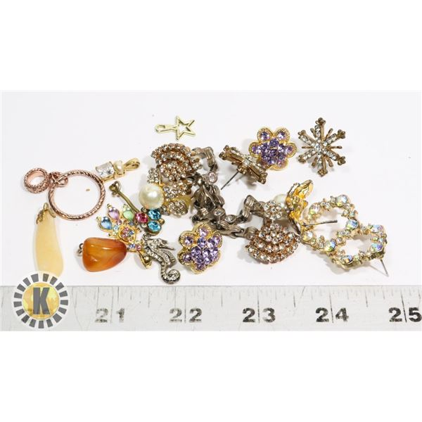 SMALL BAG OF FASHION JEWELRY