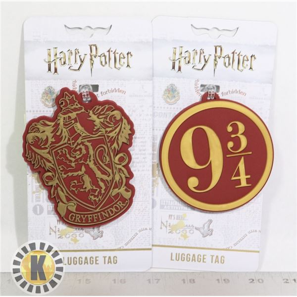 NEW HARRY POTTER LUGGAGE TAGS, SET OF 2