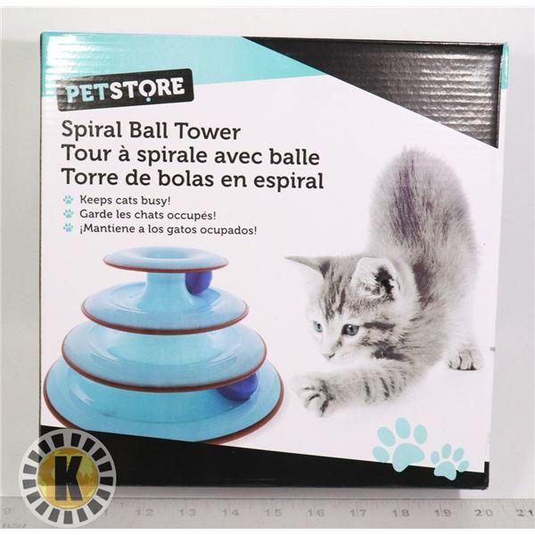 NEW CAT SPIRAL BALL TOWER