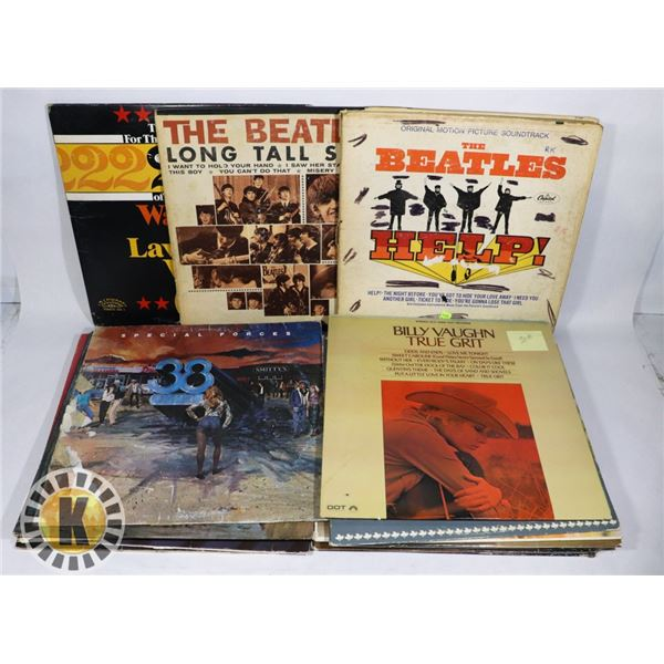 BUNDLE OF RECORDS INCLUDING THE BEATLES'