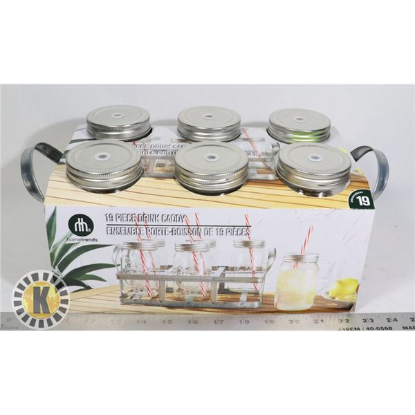 NEW 19 PC DRINK CADDY SET