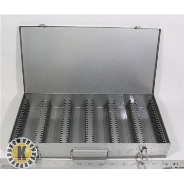 METAL COIN STORAGE CASE OR  SLIDE TRAY CASE