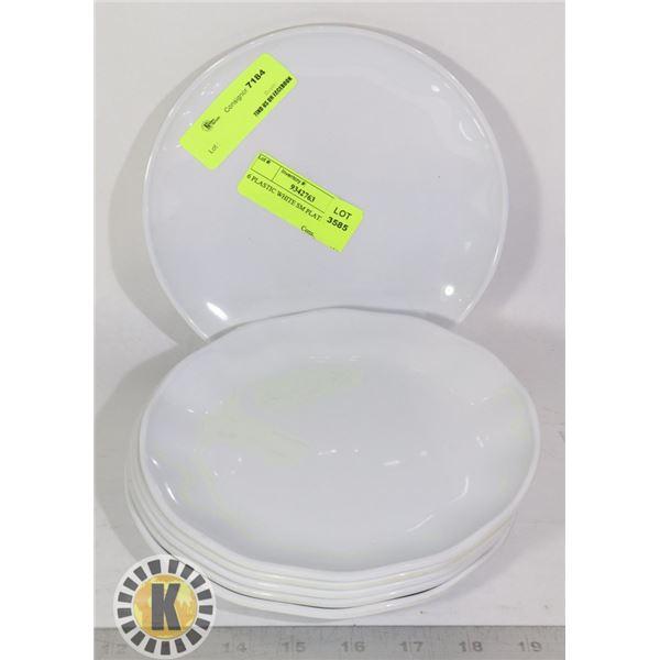 6 PLASTIC WHITE SM PLATES