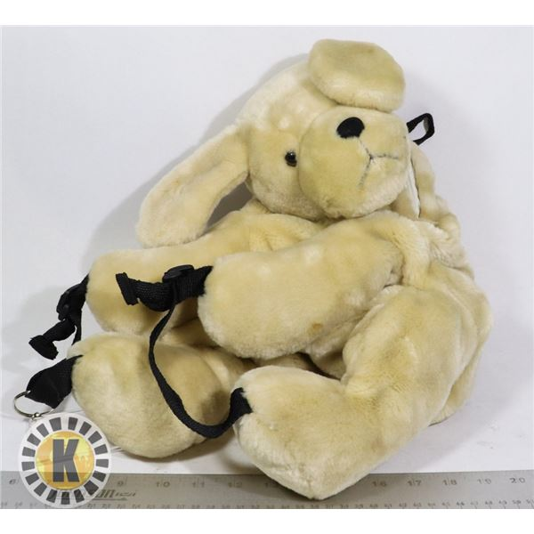 1 LARGE TEDDY BEER WITH BACKPACK STRAPS