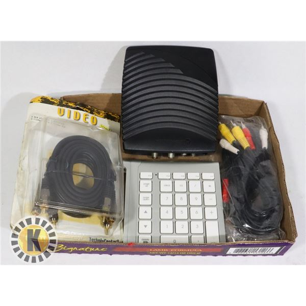 NUMBER KEYPAD, 2 SETS OF A/V CABLES &CONVERTIDOR