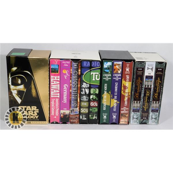 ASSORTED CASSETTE TAPES- STAR WARS, CANADA, & MORE