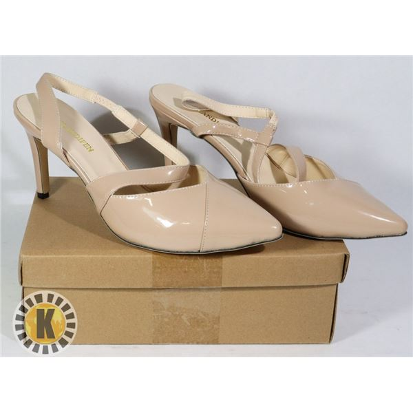 TIP TOE NUDE SUEDE WOMEN SHOES SIZE 42