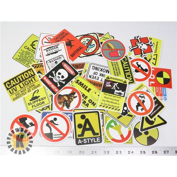 NEW FUNNY WARNING STICKERS 50PC