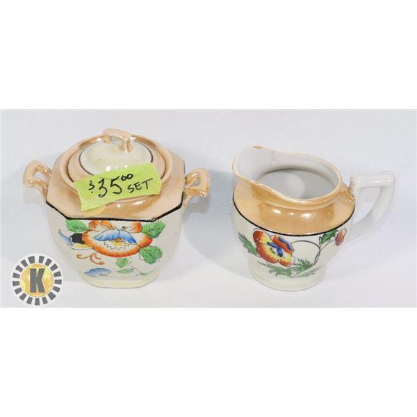 MADE IN JAPAN TEA SET- SUGAR AND CREAM HOLDER