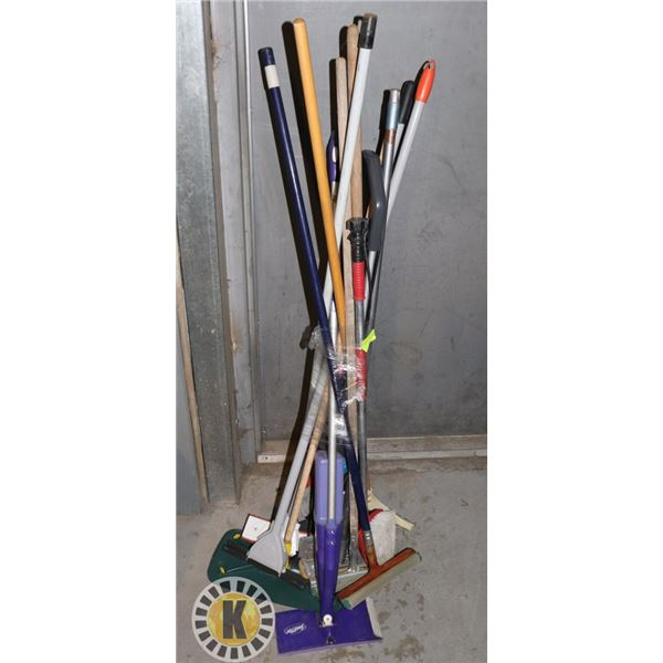 ASSORTED CLEANING SUPPLIES/ TOOLS