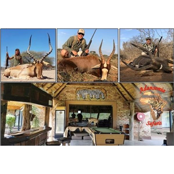 10-Day South African Safari for Two Hunters with Trophy Fees for Three Animals or $2,500 Trophy Fee