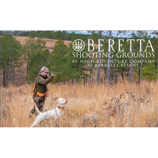 Half-Day Quail Hunt for Two Hunters at The Beretta Shooting Grounds