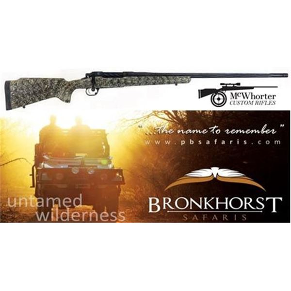 McWhorter Custom Rifle + 7-Day South African Safari for Two Hunters & Two Non-Hunters, Including Thr