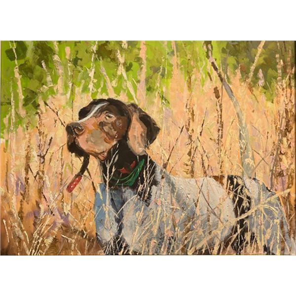"""On Point"" by Artist Tom Paul - framed 30"" x 40"""