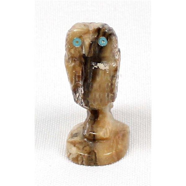 Navajo Picasso Marble Owl Fetish, David T. Yazzie