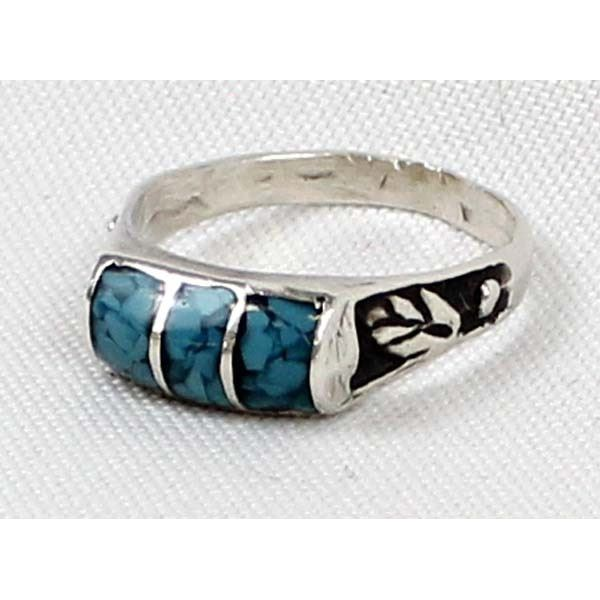 Navajo Sterling Turquoise Ring, Size 11